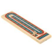 wooden triple track cribbage