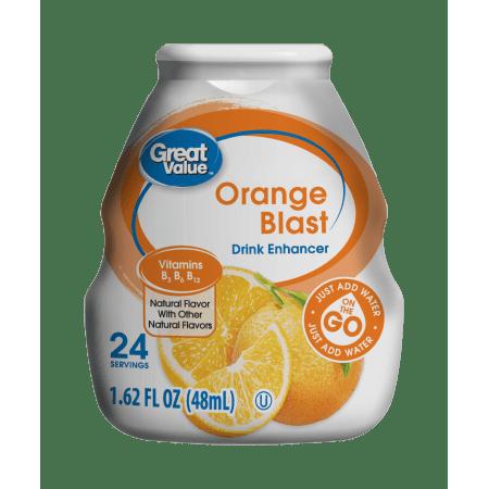 (10 Pack) Great Value Drink Enhancer, Orange Blast, 1.62 fl oz (Blood Orange Vodka Halloween Drinks)