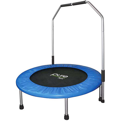 "Pure Fun 40"" Mini Trampoline with Hand Rail"