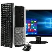 """Dell OptiPlex 390 Desktop Computer PC, 3.20 GHz Intel i5 Quad Core Gen 2, 4GB DDR3 RAM, 250GB SATA Hard Drive, Windows 10 Home 64 bit, 19"""" Screen Refurbished"""