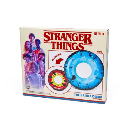 Halloween Parade Float Themes (BigMouth Inc. Stranger Things Upside Down Pool Tube, Reversible 4-foot Pool Float with Stranger Things Theme, Easy to Inflate/Deflate and Clean, Makes a Great Gift)