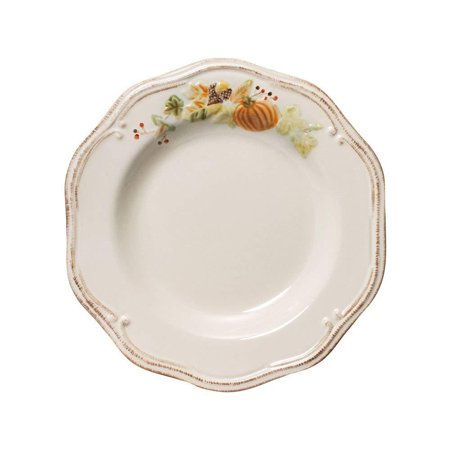 Plymouth Salad Plate (9-Inch), Plymouth dinnerware features embossed pumpkins, acorns and ears of corn on a warm, creamy white surface By (Plymouth Pumpkin)