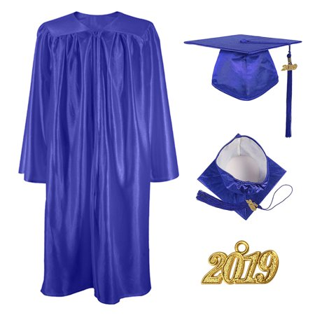 Kindergarten Cap And Gown (TOPTIE Unisex Shiny Preschool and Kindergarten Graduation Gown Cap Tassel Set 2019 Costume Robes for Baby)