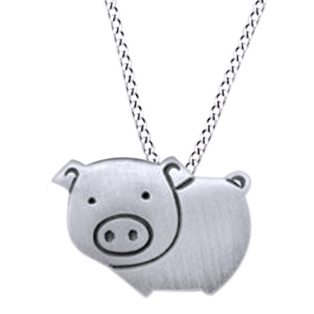 Cute & Lovely Pig Pendant Necklace In 925 Sterling Silver For Women's](Cute Cheap Necklaces)
