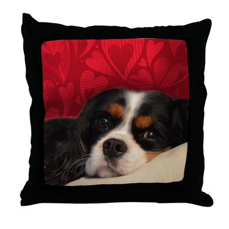 CafePress - Cavalier King Charles Tri-Color - Decor Throw Pillow - Cleveland Cavaliers Pillow