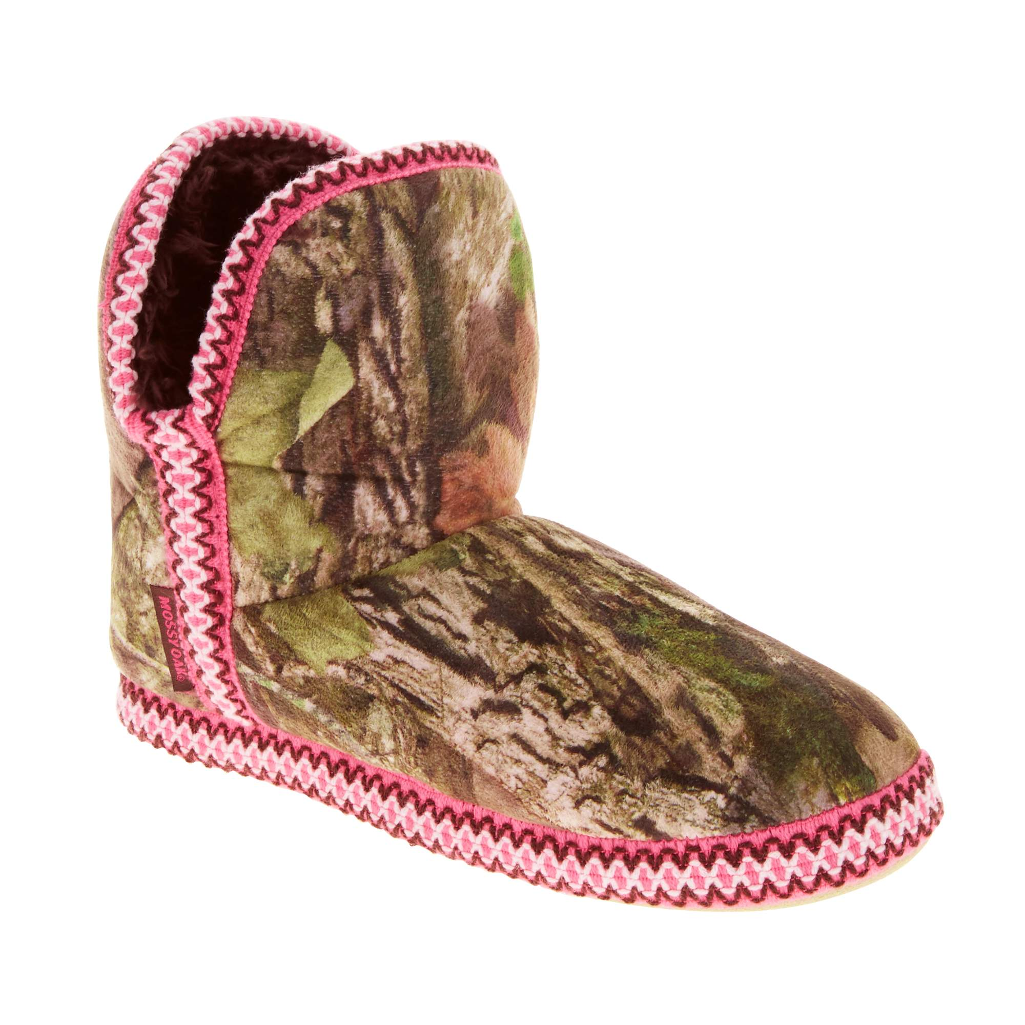 Mossy Oak Women's Camo Bootie Slipper