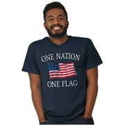 American Flag Short Sleeve T-Shirt Tees Tshirts One Nation American Patriotic United States