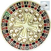 Bella Crystal Golf Ball Marker & Hat Clip - Roulette Wheel