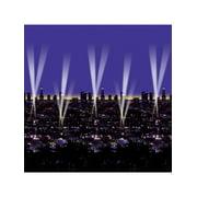 Night Life Busy City Skyline Wallpaper Backdrop Decoration