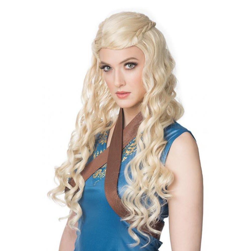 Medieval Princess Wig Game Of Thrones Daenerys Targaryen Mother of Dragons - image 1 de 1