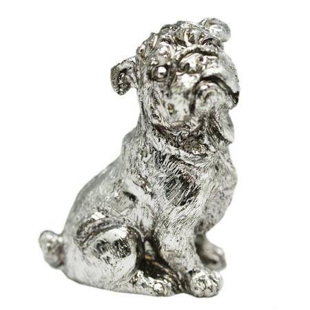 Miniature Pewter Dog Figure: Bulldog - By Ganz
