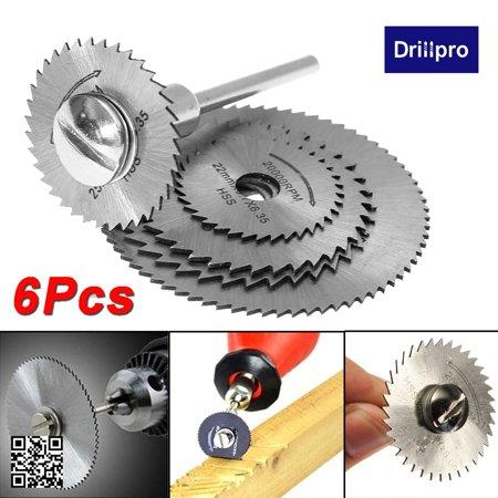 6pcs HSS Rotary Blade Circular Saw Disc Wheel for Rotary Tool Cutting +1 Mandrel - image 9 of 10
