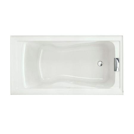 American Standard Evolution 60 in. x 32 in. Acrylic Reversible Drain Bathtub in White