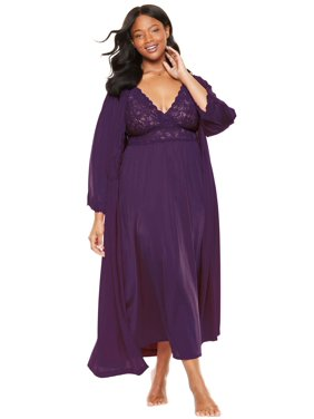 964135a6ee Product Image Only Necessities Plus Size Long Peignoir   Robe Set