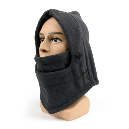 Areyourshop Thermal Fleece Balaclava Winter Ski Neck Hoods Full Face Mask Cover Hat Cap BLK