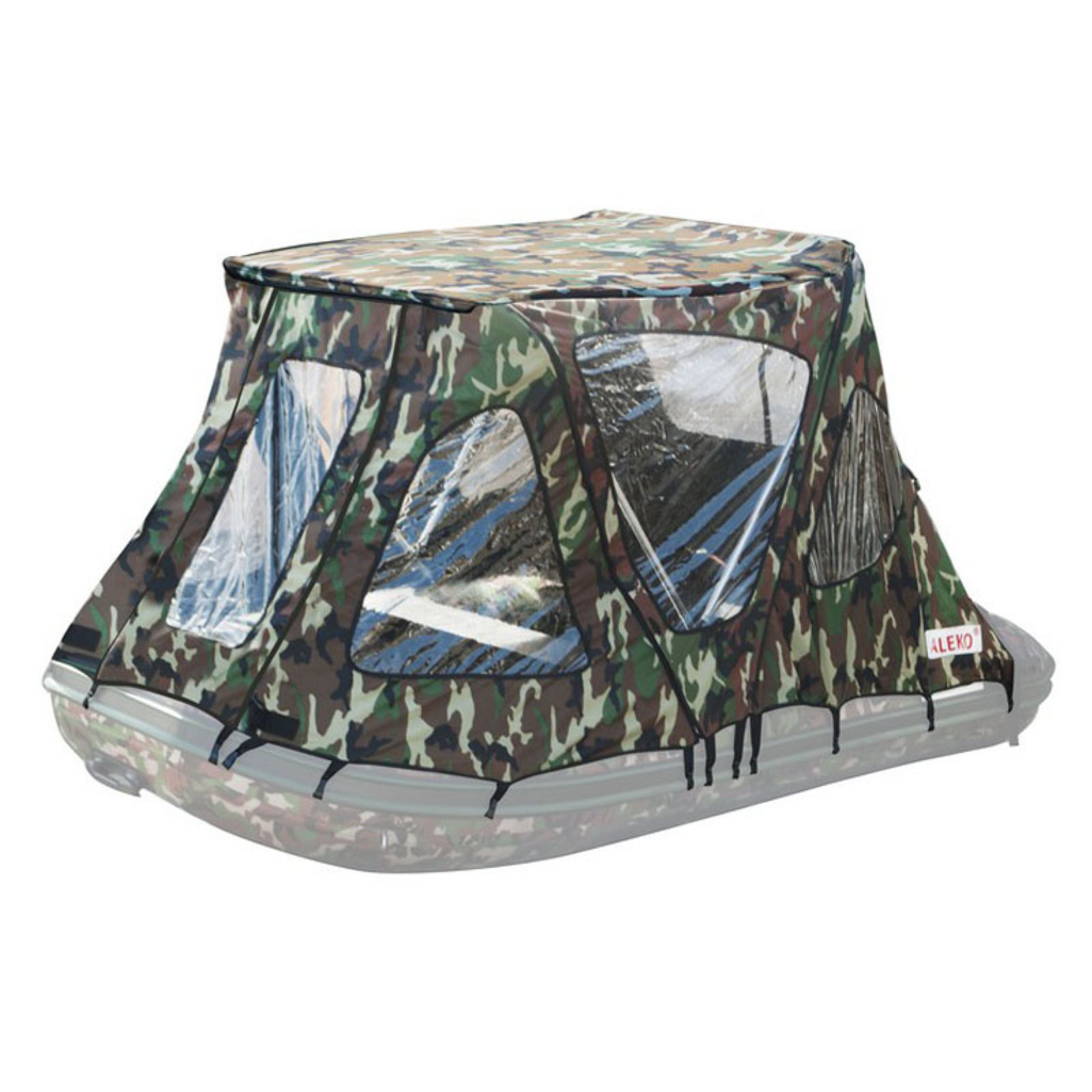 ALEKO BWTENT380CM Winter Canopy Boat Tent for Inflatable Boats