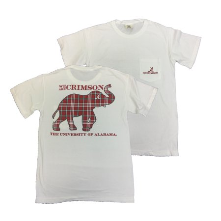Campus Collection Alabama Tartan Elephant Short Sleeve T-shirt