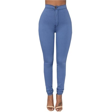 Women's Fashion Slimming Fit High Waist Solid Color Long Pencil Pants ()