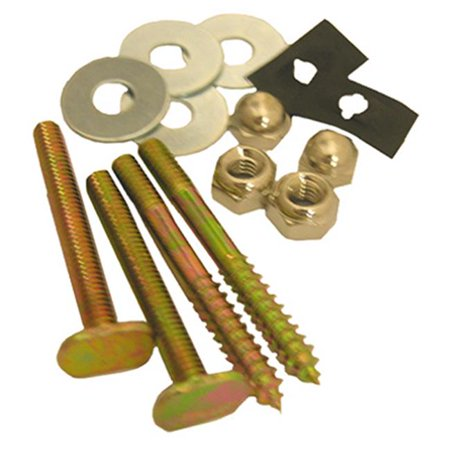 04-3653 Brass Plated Toilet Closet Bolt & Screw Set ()