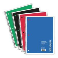 UNIVERSAL ONE UNV66610 Writing Pad,College,8x10-1/2in,Spiral