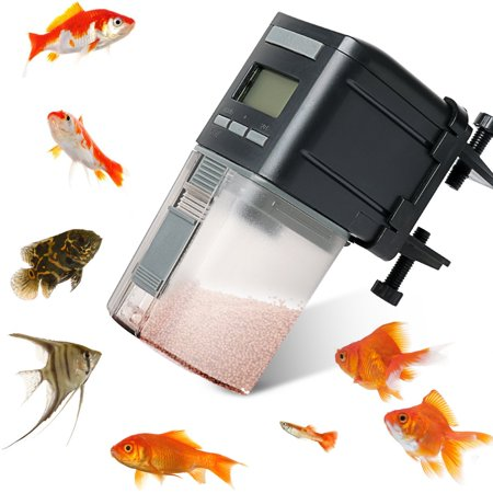 Fysho Fish Feeder, Automatic Fish Feeder Battery Operated Aquarium Mini Household Fish Food Feeder Timely Feeder