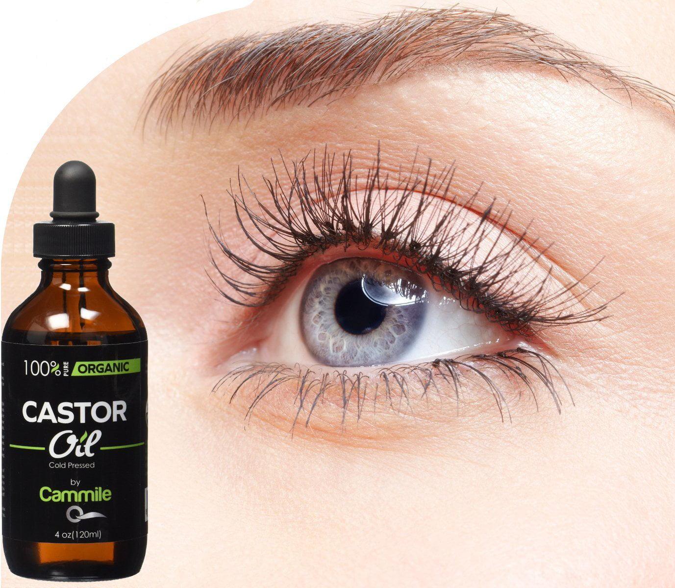 Organic Castor Oil For Hair Eyelashes And Eyebrows Growth 4 Oz