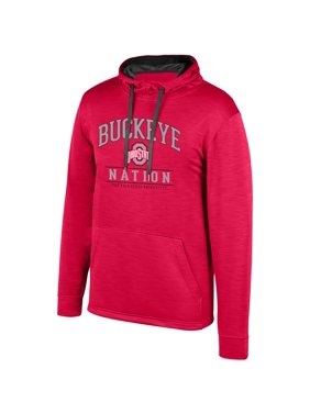 Women's Scarlet Ohio State Buckeyes Squadron Pullover Hoodie