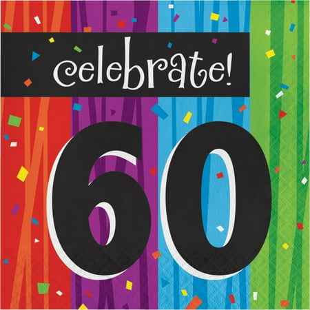 Party Creations Milestone Celebrations 60th Birthday Lunch Napkins, 16 Ct