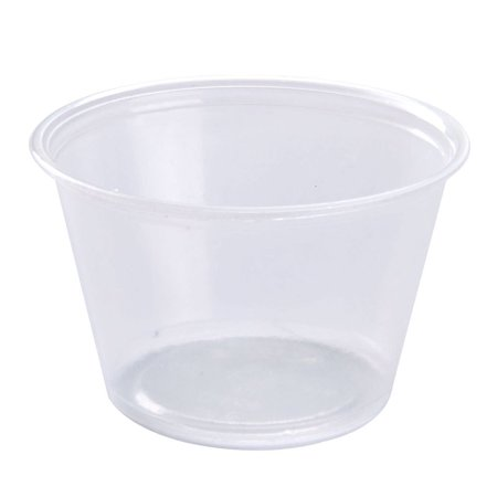 MarketPro Polypropylene Souffle Cup Clear 4 oz. | 2500/Case - Souffle Cups