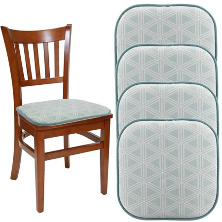 dream home set of 4 gripper chair pads for office chairs 16 - Kitchen Chair Pads