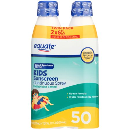 Protectant Spf 15 Sunscreen (Equate Kids Continuous Sunscreen Spray, SPF 50, 12 Oz, 2)