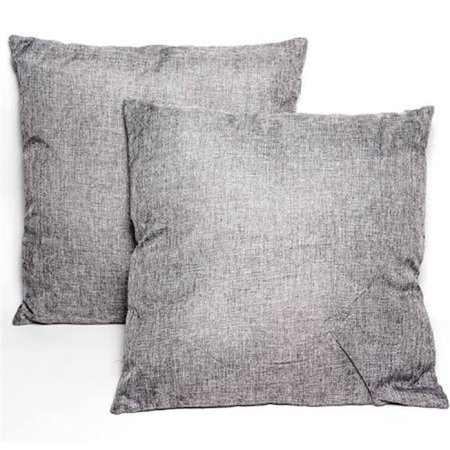 Innova Imports 4897056743205 Square Throw Pillows, Gray - Pack of 2
