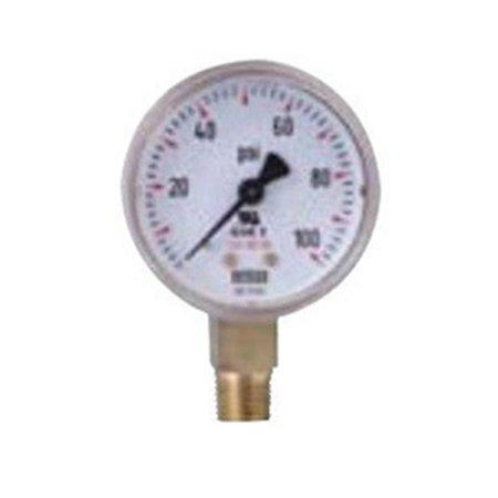 - Wika 759-2-60 Welding & Compressed Gas Gauges with Brass Case