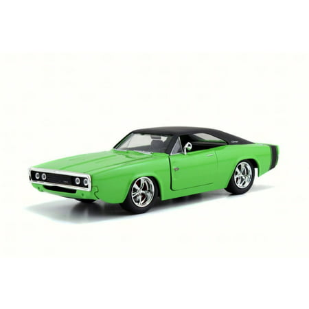 1970 Dodge Charger RT, Green - Jada 97593A - 1/24 Scale Diecast Model Toy Car ()