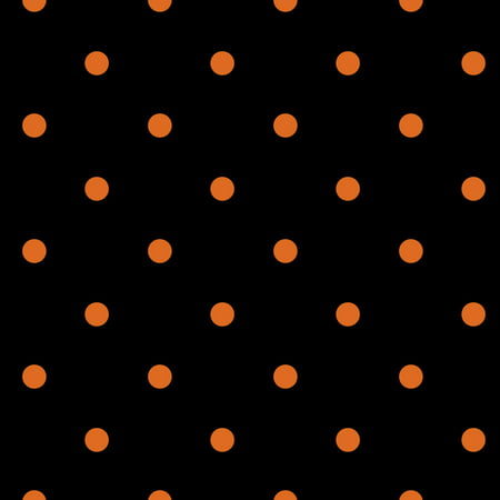 Retro Halloween Fabric (David Textiles Halloween Dots Black 44