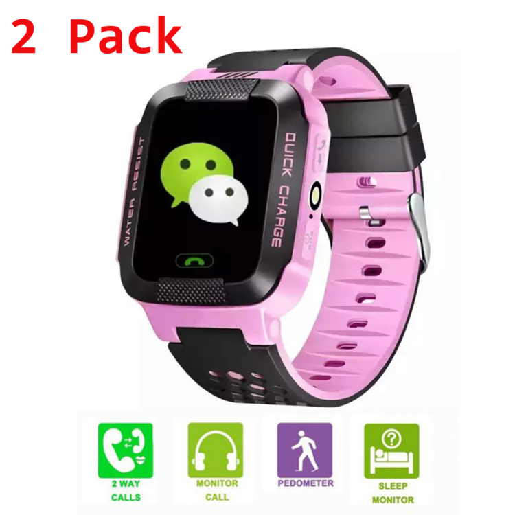 2Pack/Pcs Children Study Play Touch Screen Smart Watch Outdoor Tracker SOS Watch On Clearance