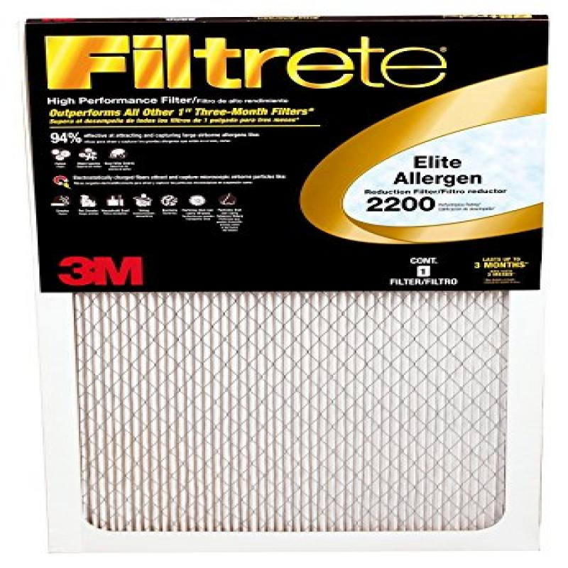 14x30x1, Filtrete Air Filter, MERV 11, by 3m (Pack of 6)