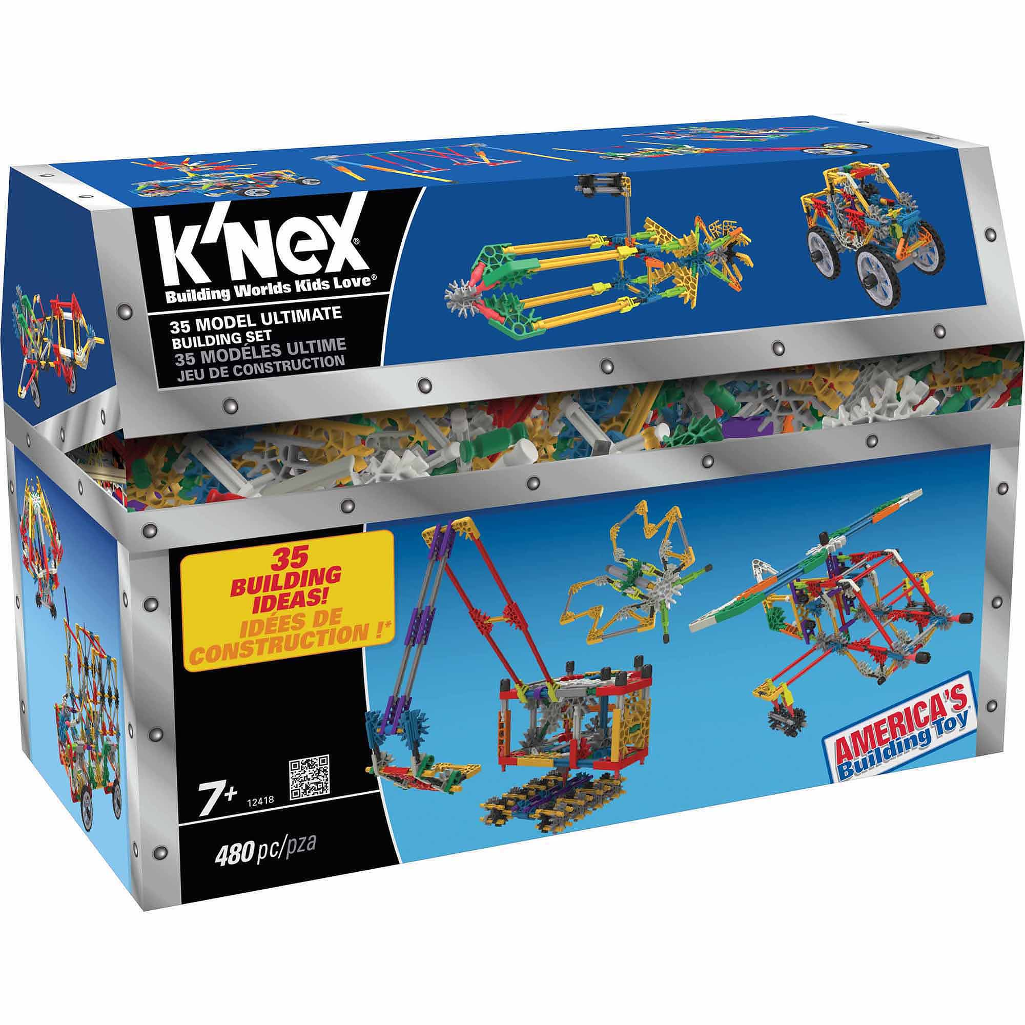 K'NEX ��� 35 Model Building Set ��� 480 Pieces ��� For Ages 7  Construction Education Toy