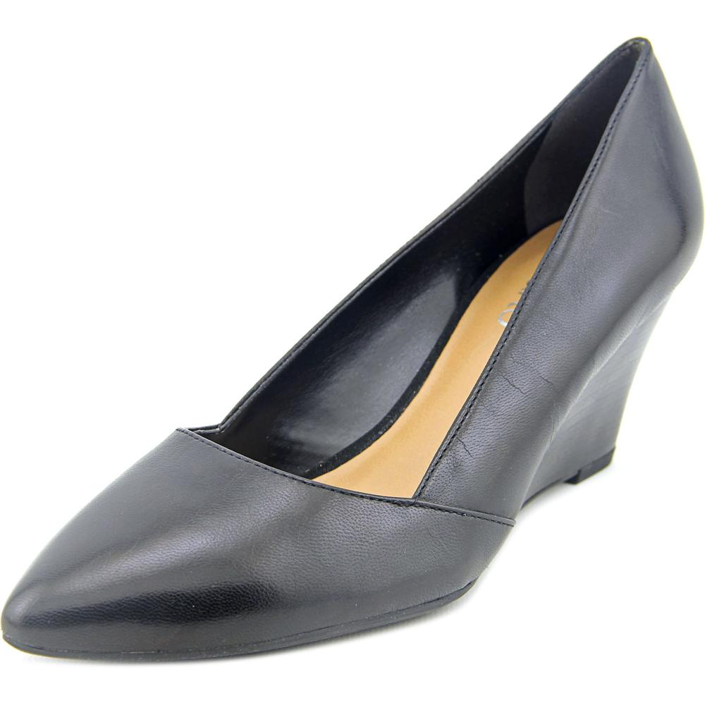 Franco Sarto Frankie Women Open Toe Leather Wedge Heel by Franco Sarto