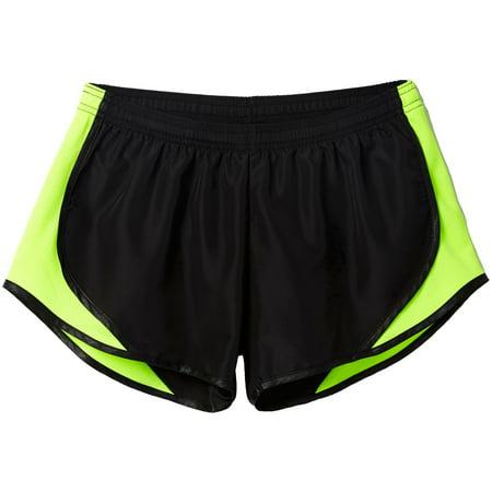 Soffe Juniors' Team Shorty Shorts (Black/Solar Yellow, (Soffe Drawstring Shorts)