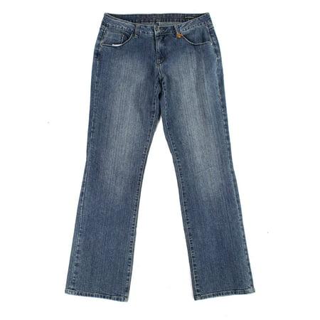 Womens Mid-Rise Bootcut Leg Denim Jeans 14