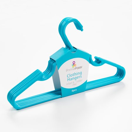Primo Passi Infant & Toddler Clothing Hangers (Set of 12) - Blue Primo Passi Clothing Hangers are a convenient and stylish way to keep your childs closet neat and organized. Sized just right to fit infant and toddler clothing, these hangers are made with durable plastic and ultra-slim design to maximizes closet space. Package incluedes 12 hangers.