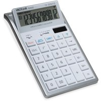 Victor, VCT6400, 12-Digit Check and Correct Desk Calculator, 1 Each, White