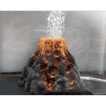 Aquarium Volcano Shape & Bubble Air Stone Oxygen Pump Fish Tank Ornament Decor - image 7 de 7