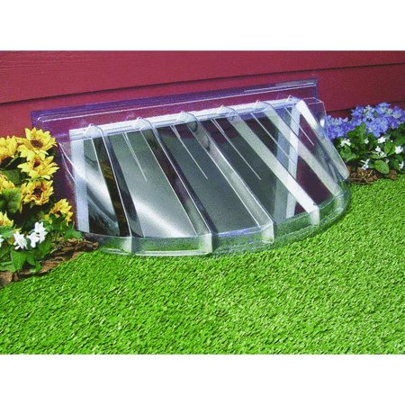 Maccourt 43 in d plastic window well cover for Margelle fenetre sous sol