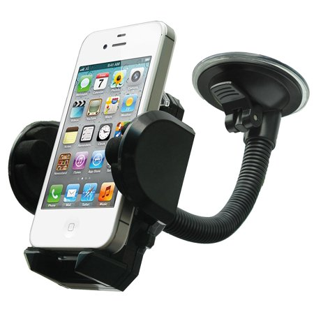 Car Holder Windshield Dashboard Cell Phone Holder Cradle, 360 Rotating Car Mount for Smartphone - iPhone 6 7 8 Plus Galaxy S7 S7Edge LG HTC , Max 6.5 in ()