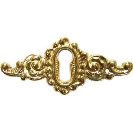 Cast Brass Victorian Style Keyhole Cover - (Victorian Keyhole Cover)