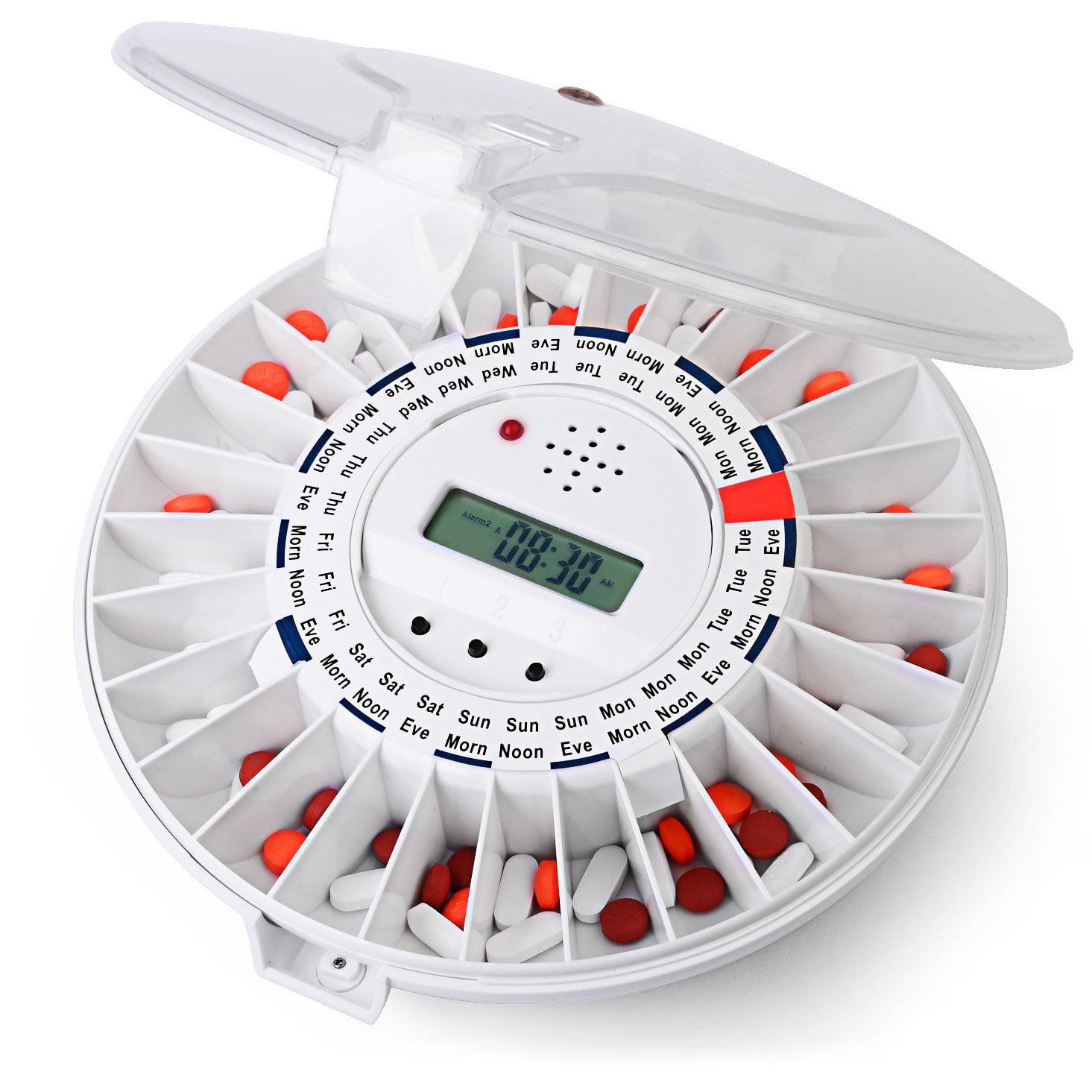 Kinsman Med-e-lert Automatic Pill Dispenser, Clear