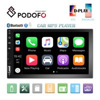 """2 Din Car Stereo Radio 7"""" HD Touch Screen Car Multimedia Player Bluetooth FM Radio TF USB Mirror Link For Android Iphone with 8 LED Camera"""