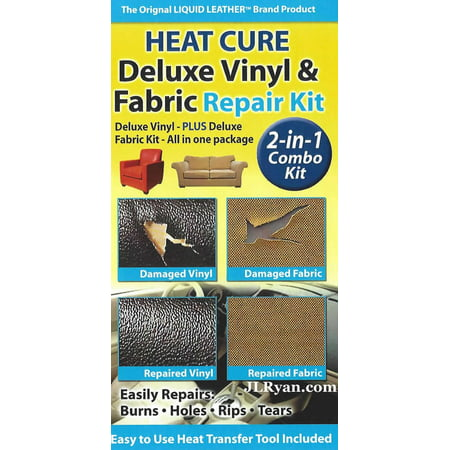 Heat Cure- Leather Deluxe Leather and Vinyl Repair Kit